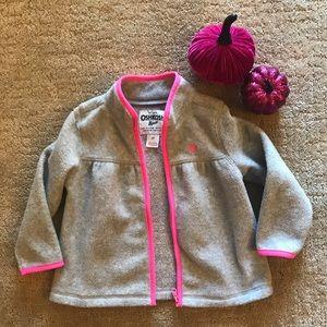 Toddler girls fleece zip up sweater